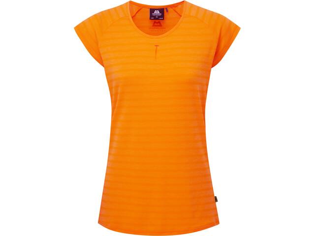 Mountain Equipment Equinox Tee Women orange sherbert stripe